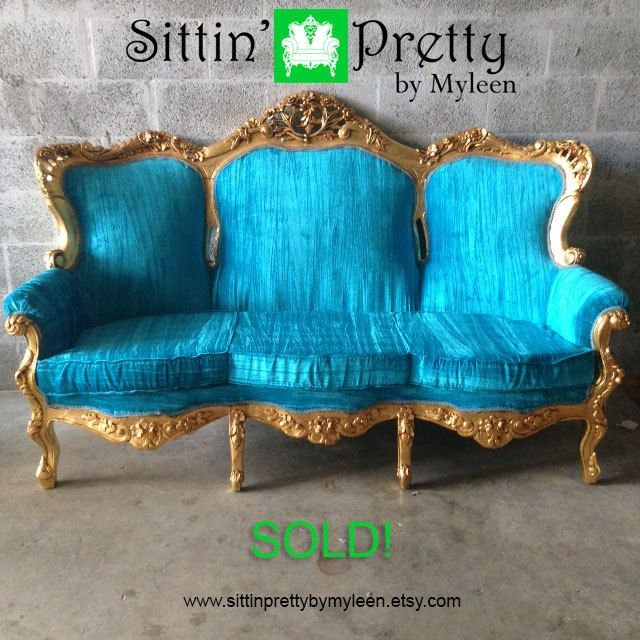 37 Best Antique Settees Sofas Images On Pinterest With Etsy Sofas (#3 of 15)