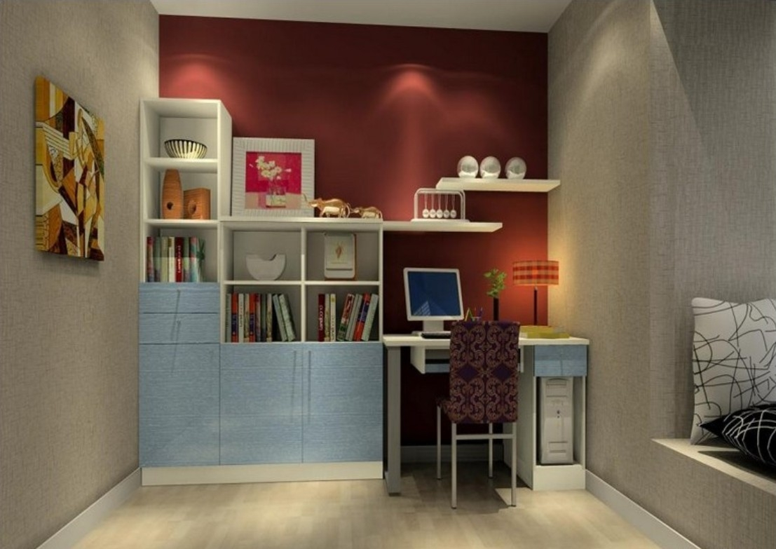 3d Childrens Room Wall Unit 3d House Intended For Study Wall Unit Designs (#1 of 15)