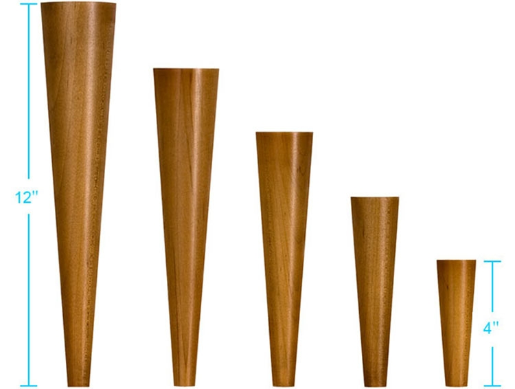 4 Sources For Mid Century Modern Furniture Legs Retro Renovation Within Wood Legs Sofas (#1 of 15)
