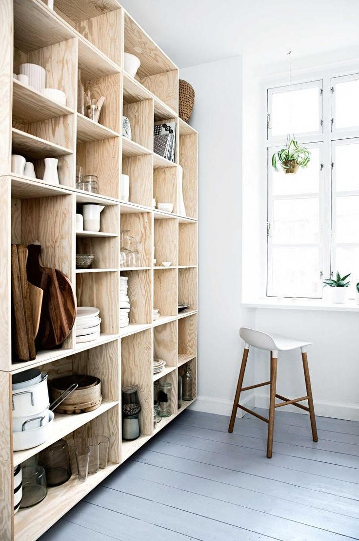 456 Best I Wood Shelves I Images On Pinterest Regarding Whole Wall Shelves (#1 of 15)