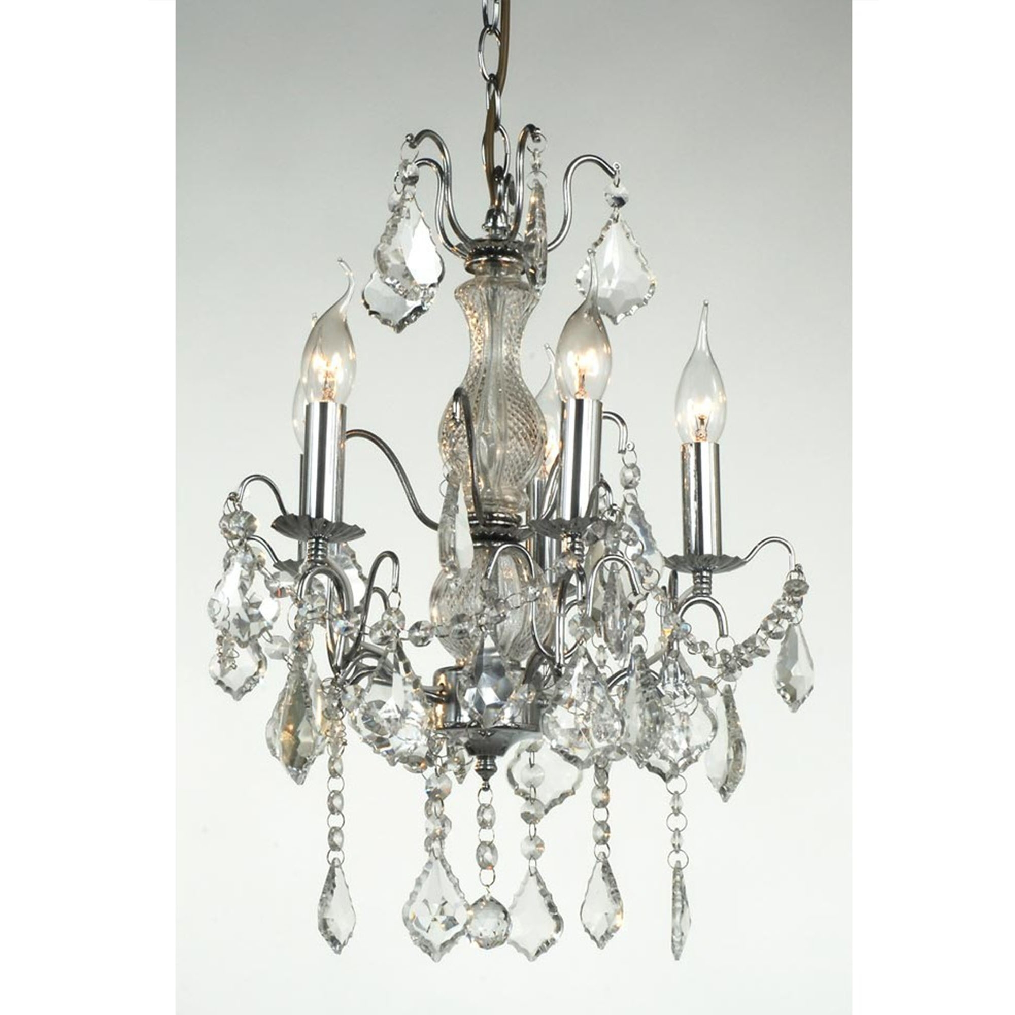 5 Arm Chrome Antique French Style Chandelier French Lighting With Regard To French Style Chandelier (#1 of 12)