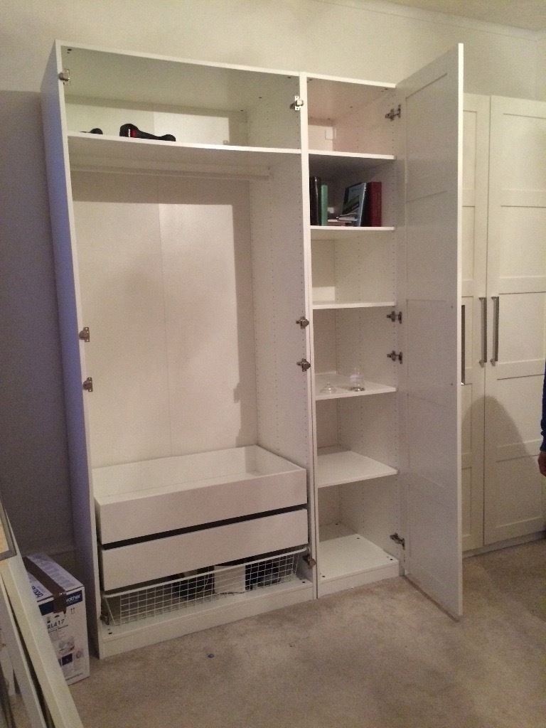 5 Door Ikea Wardrobe With Drawers And Shelves Inside In Pertaining To Wardrobes With Shelves And Drawers (View 15 of 15)