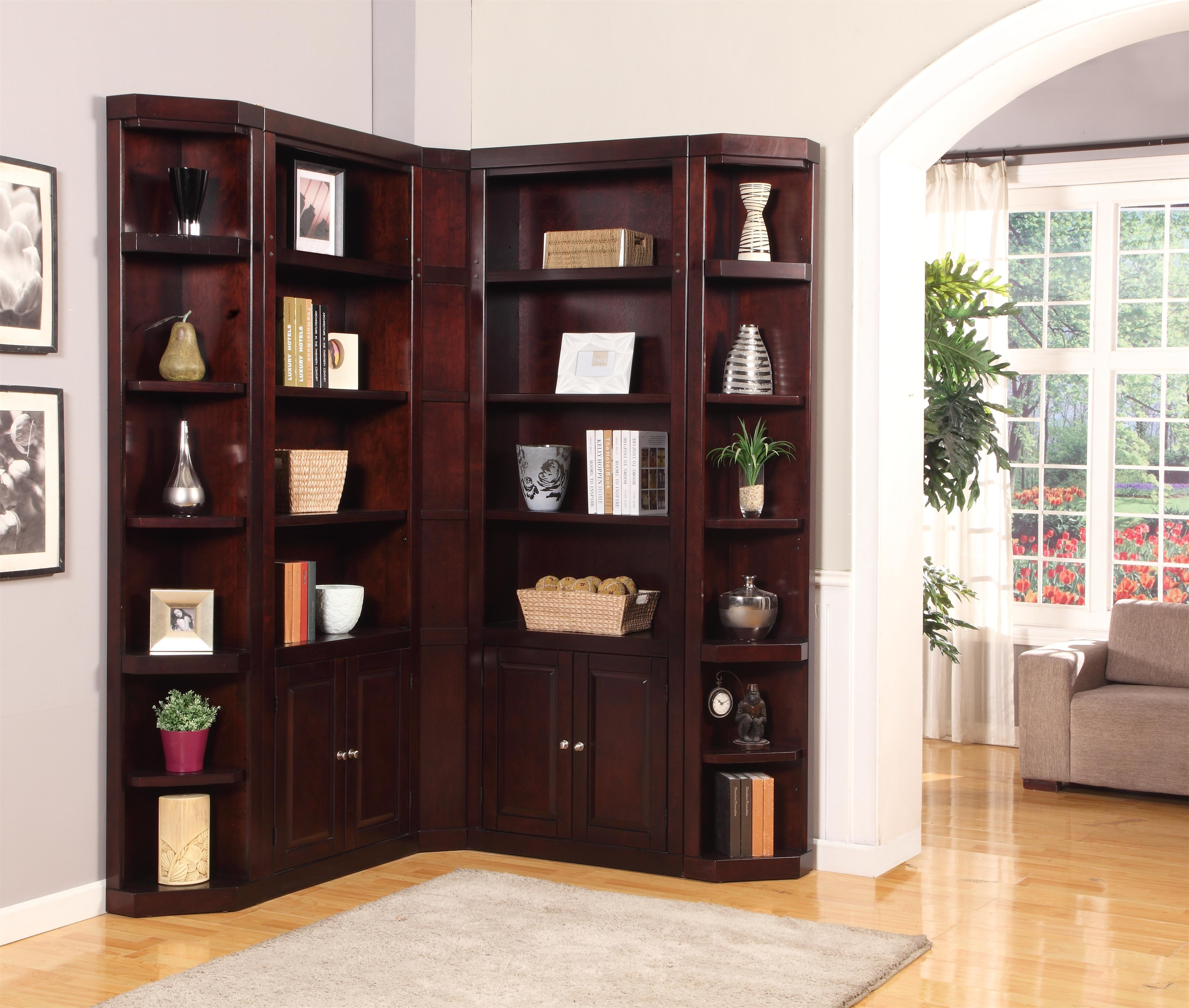 Inspiration about 5 Pc Parker House Boston Corner Library Unit Within Corner Library Bookcase (#4 of 15)
