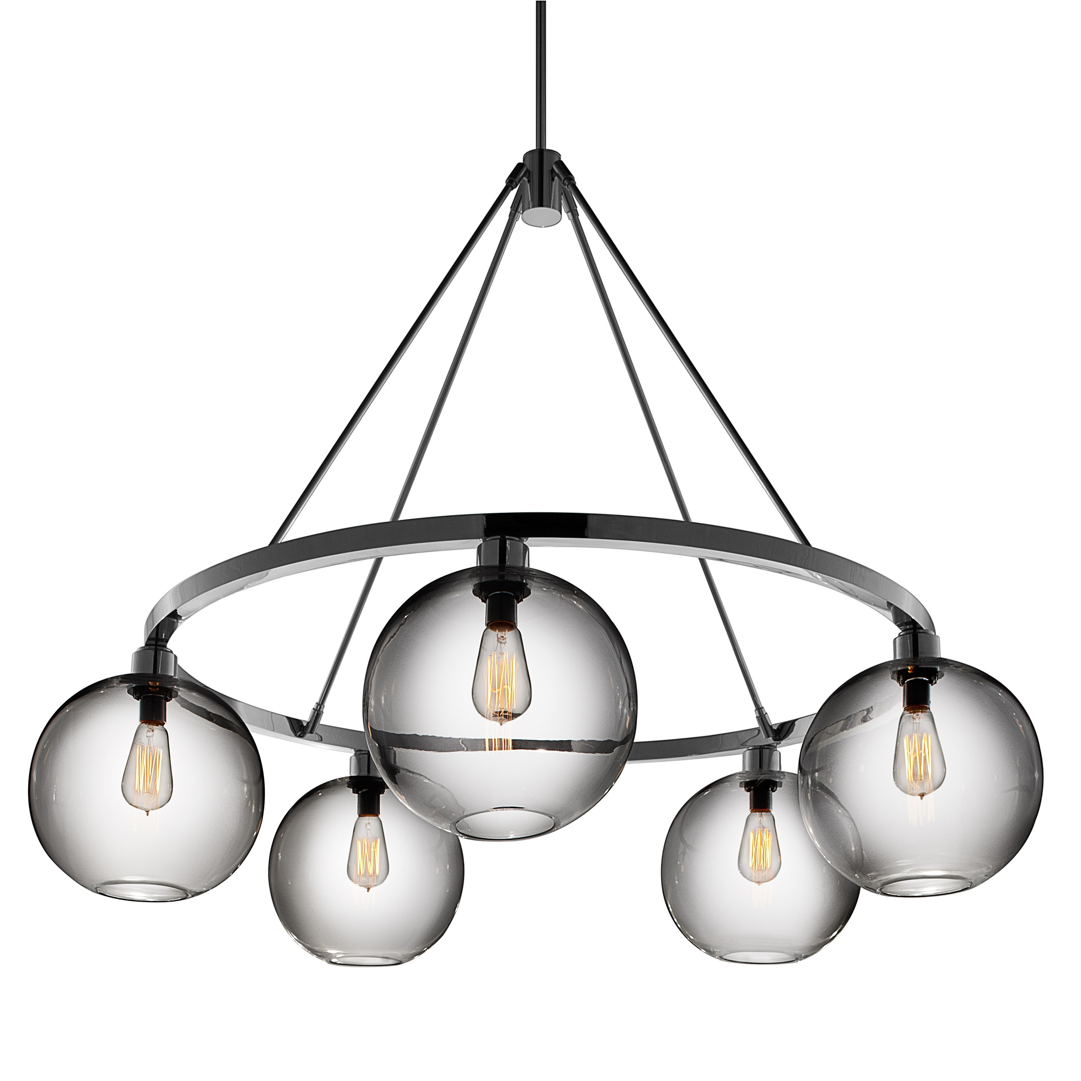 Inspiration about 53 Modern Chandelier Lighting Modern Chandelier With Amber Glass For Modern Chandelier (#10 of 12)
