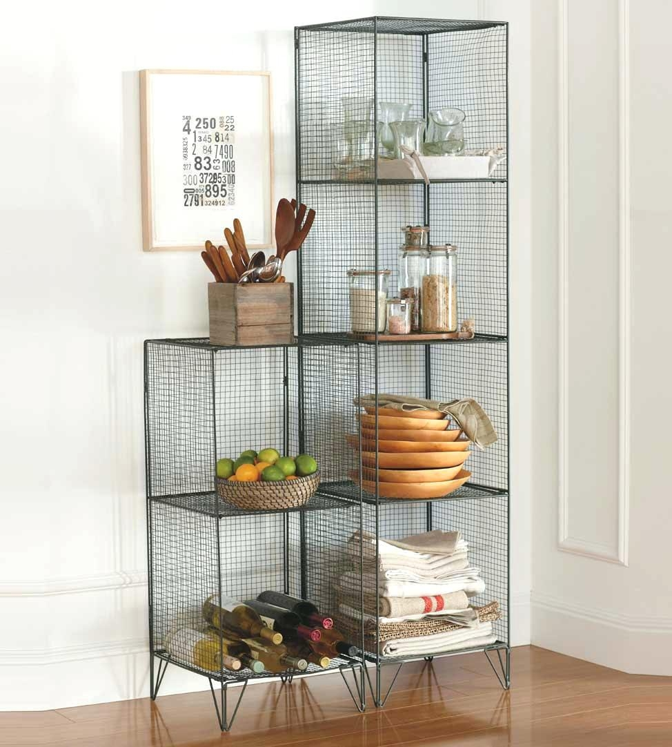 5374 In H X 3571 W 1398 D 4 Decorative Books For Shelves Wire Cube With Regard To Cable Suspended Glass Shelves (#1 of 12)