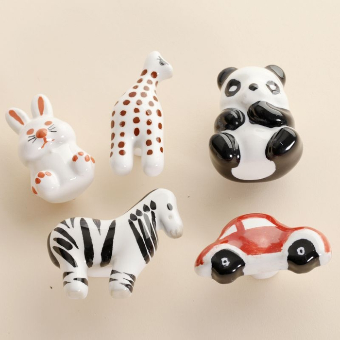 5pcs Childern Room Animal Ceramic Drawer Knobs Cartoon Porcelain With Porcelain Cupboard Knobs (View 10 of 15)