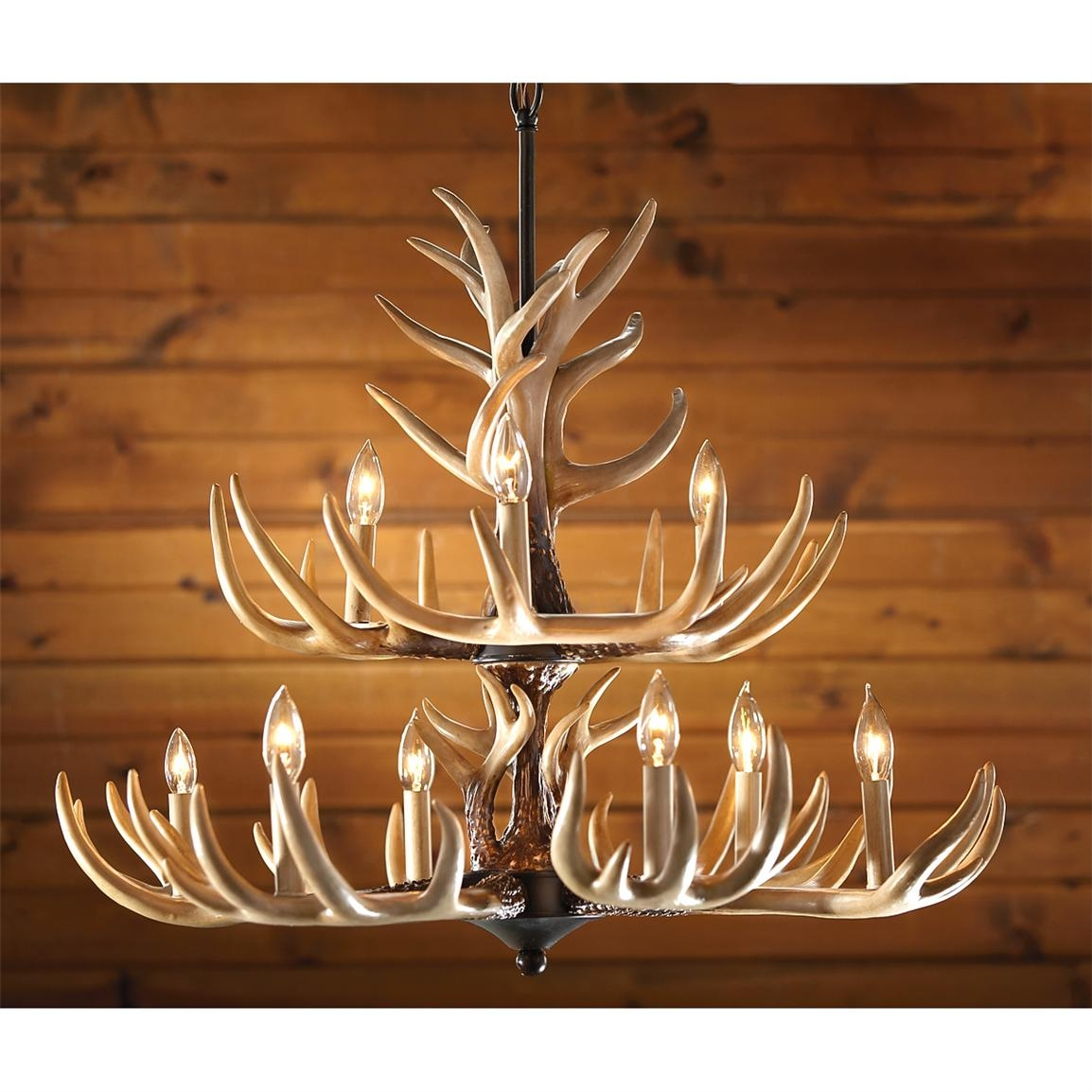 Inspiration about 6 Light Antler Chandelier 210035 Lighting At Sportsmans Guide Inside Antler Chandelier (#10 of 12)