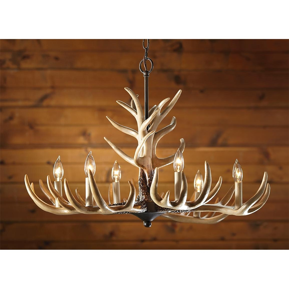 Inspiration about 6 Light Antler Chandelier 210035 Lighting At Sportsmans Guide Within Antler Chandeliers And Lighting (#1 of 12)