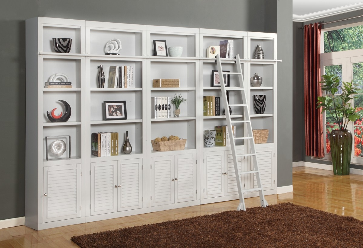 6 Pc Parker House Boca Library Ii Bookcase Wall Unit In Bookcase Library Wall Unit (#1 of 15)