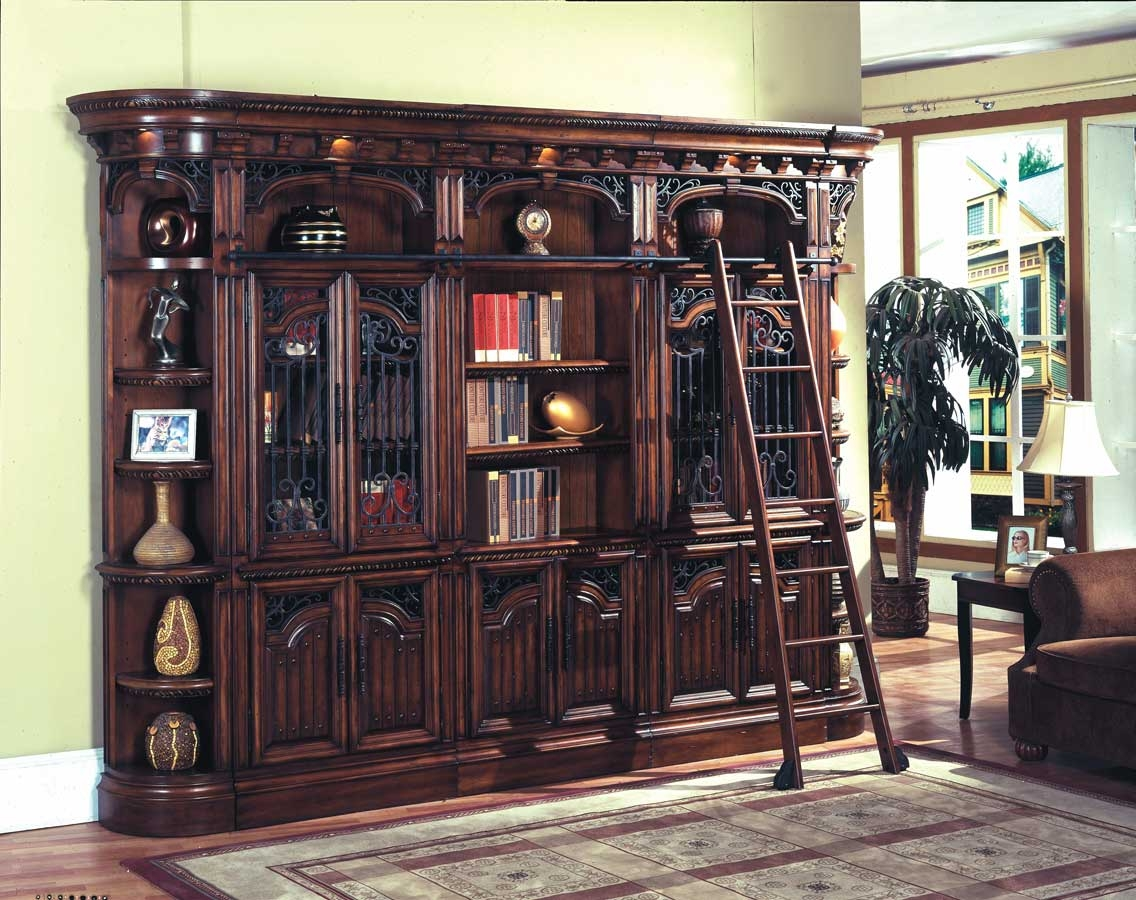 6 Piece Parker House Barcelona Library Bookcases Wall Unit Regarding Library Bookcase Wall Unit (#2 of 15)
