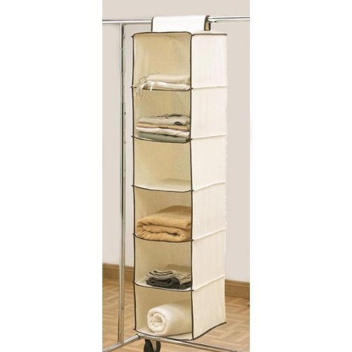 6 Shelf Hanging Wardrobe Storage Unit Sweater Organiser Amazonco Pertaining To Hanging Wardrobe Shelves (View 1 of 15)