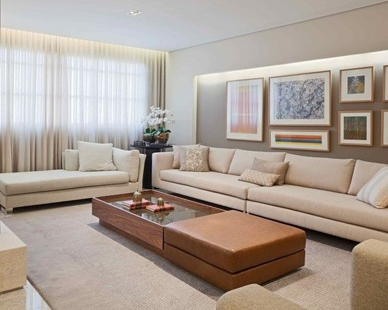 61 Best Large Living Rooms Sets Images On Pinterest With Regard To Long Modern Sofas (#1 of 15)
