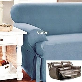 95 Best Slipcover 4 Recliner Couch Images On Pinterest Pertaining To Teal Sofa Slipcovers (#3 of 15)