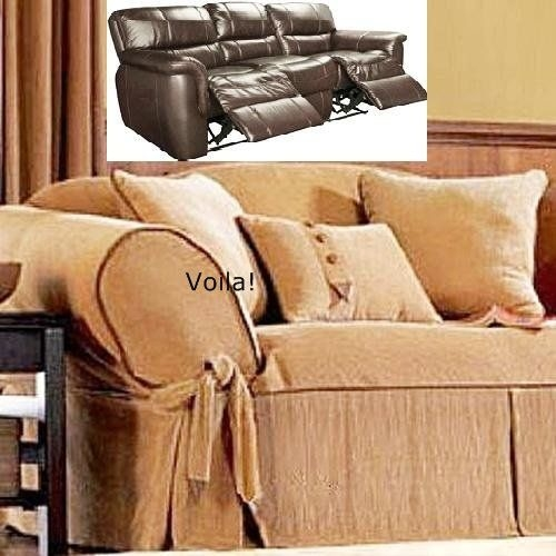 95 Best Slipcover 4 Recliner Couch Images On Pinterest Recliners Pertaining To Slipcover For Leather Sofas (#1 of 15)