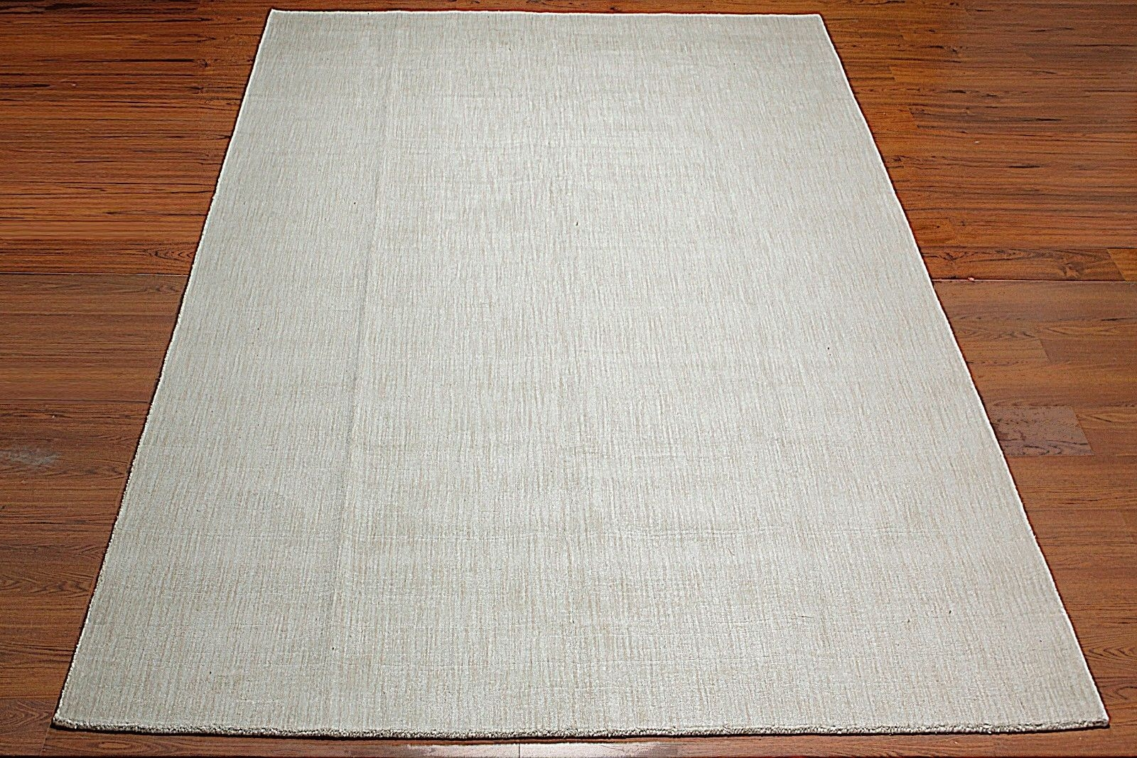 9×12 Custom Made Handmade Plain Textured Area Rug Carpet Ivory Pertaining To Modern Wool Area Rugs (#1 of 15)