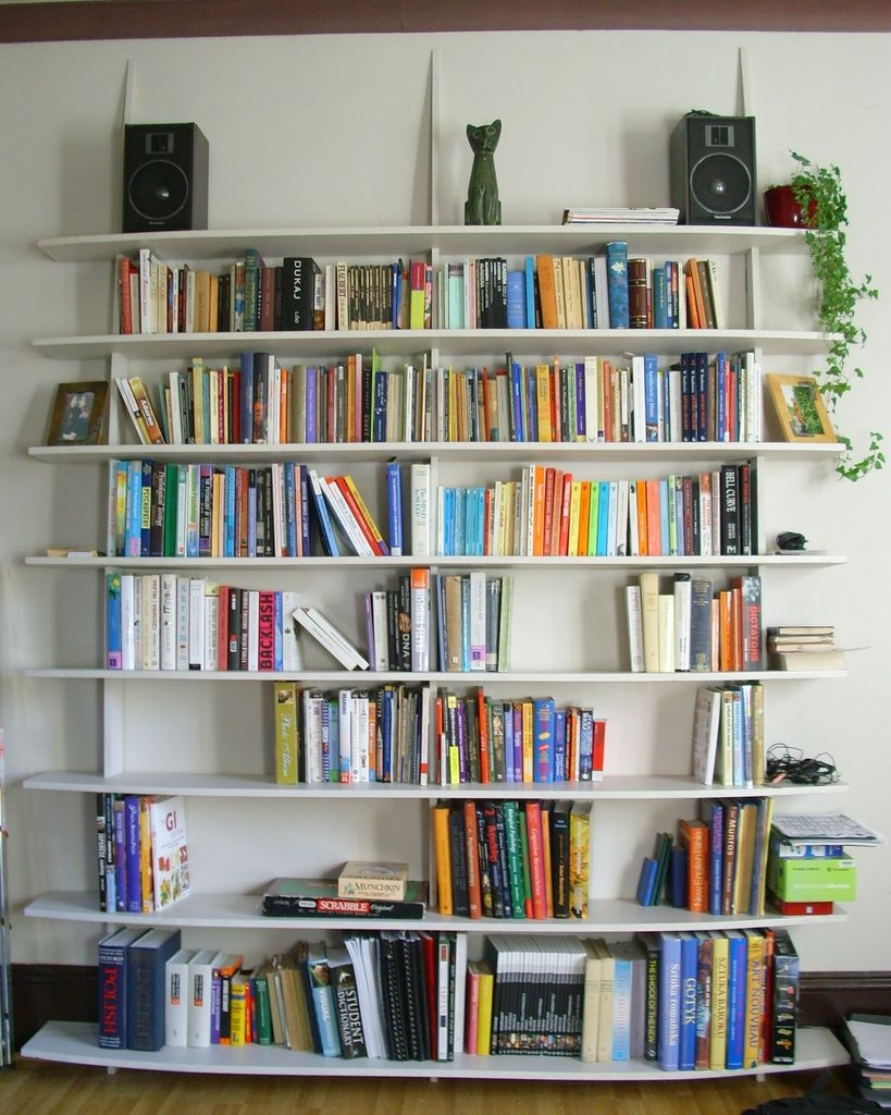 Accessories Awesome Ideas On How To Build A Wall Bookcase For For Freestanding Bookcase Wall (View 2 of 15)