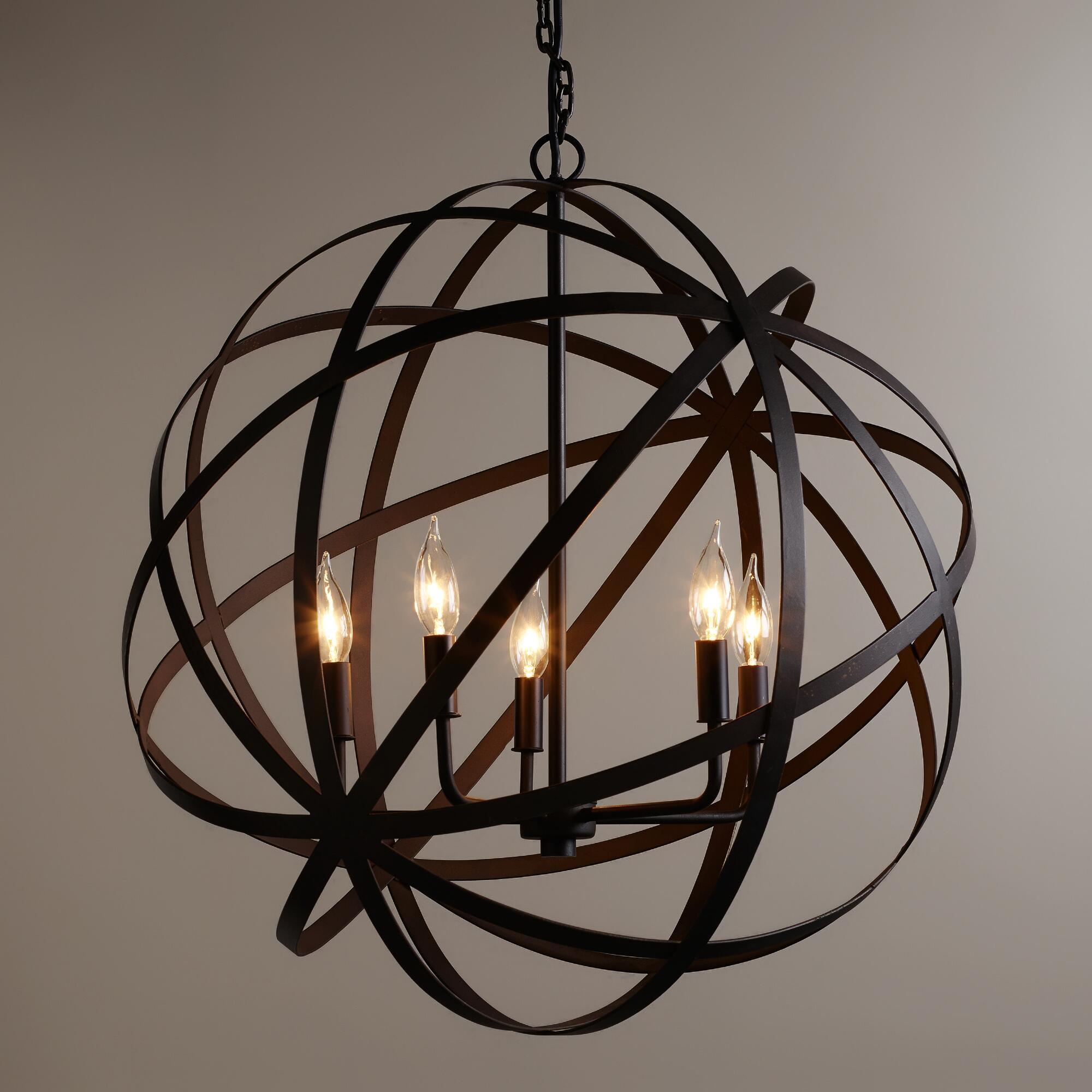 12 Best Ideas of Metal Sphere Chandelier
