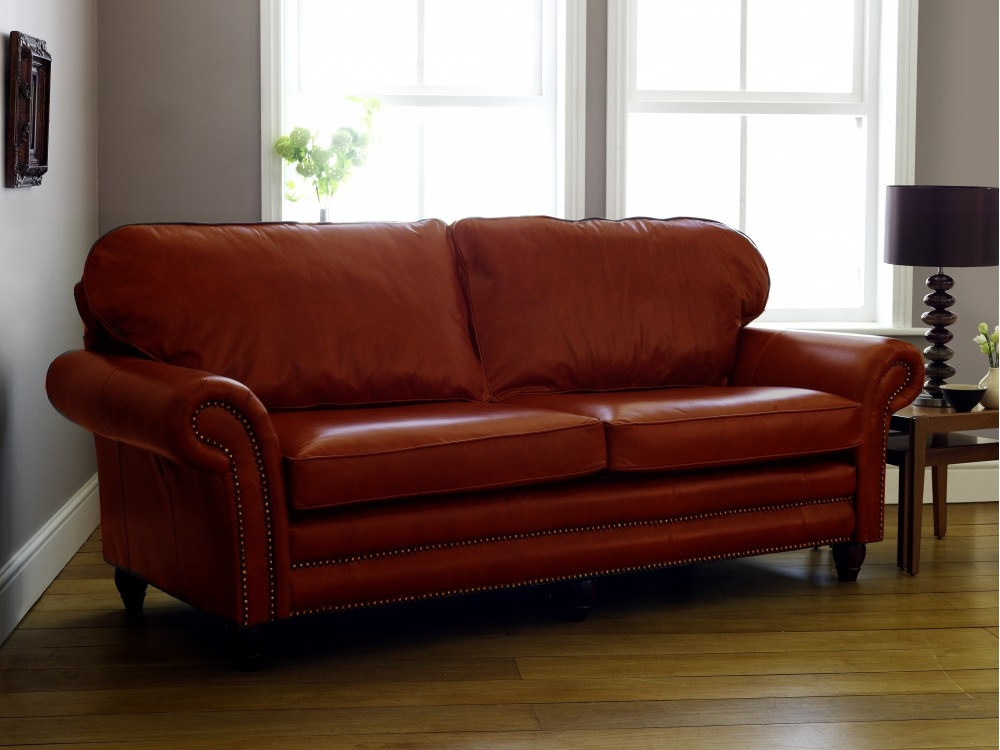 Adorable Brown Leather Sofa Sleeper Modern Sofabeds Futon Inside Leather Sofas (#2 of 15)