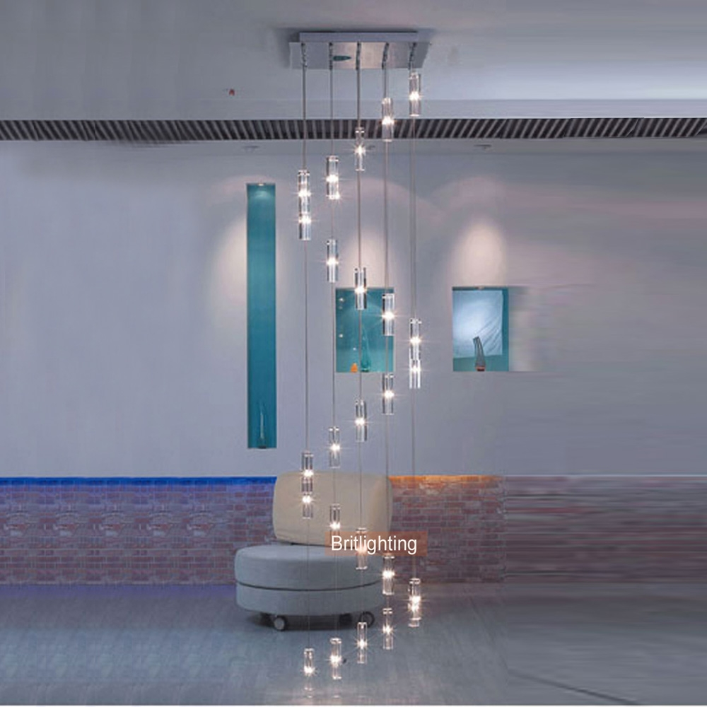 Aliexpress Buy Led Crystal Chandelier Lighting Stairway Long In Stairwell Chandelier (#2 of 12)