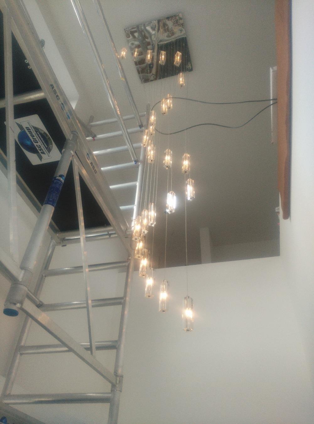Aliexpress Buy Led Crystal Chandelier Lighting Stairway Long Pertaining To Stairway Chandeliers (#6 of 12)
