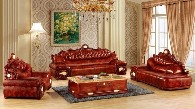 Inspiration about Aliexpress Buy Luxury Big European Leather Sofa Set Living Regarding European Leather Sofas (#1 of 15)