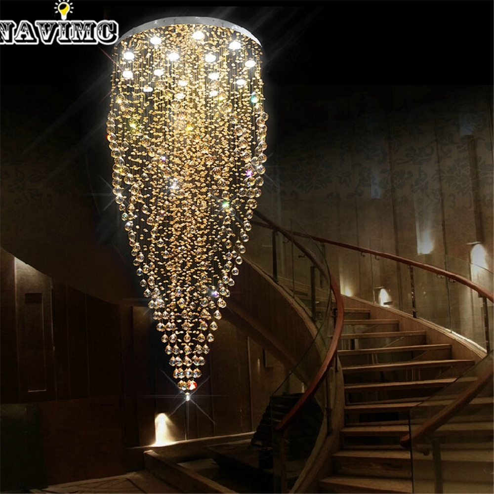 Aliexpress Buy Luxury Spiral Design Long Light Modern With Long Chandelier (#2 of 12)