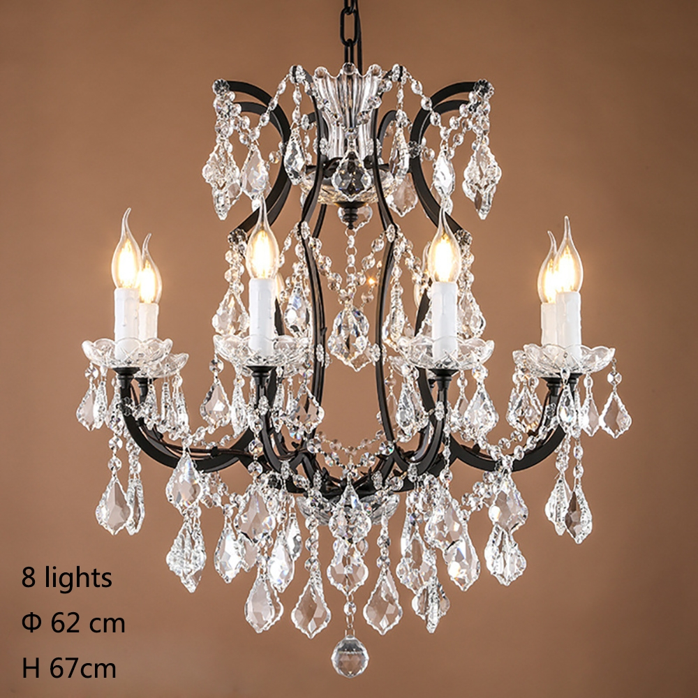 Aliexpress Buy Retro Vintage Crystal Drops Chandelierslarge Within French Style Chandelier (#2 of 12)