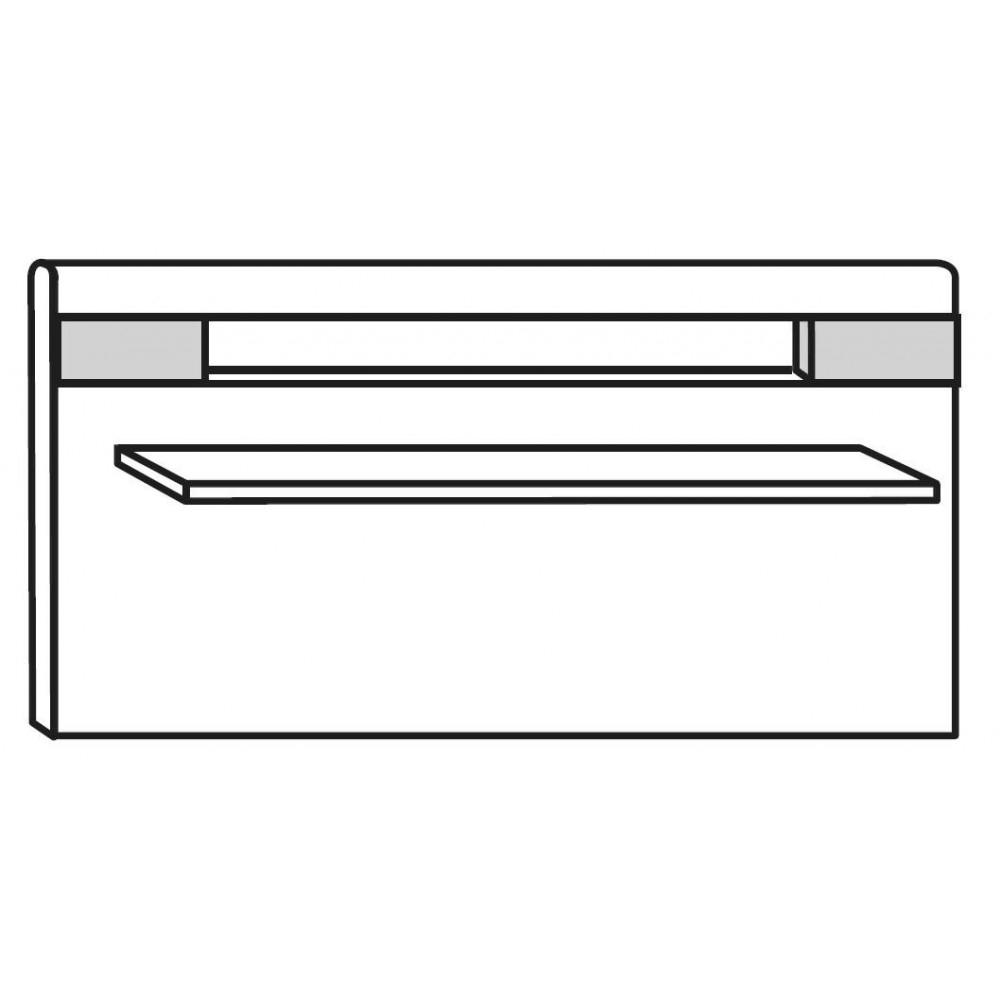Alpine White Panel With Smoked Glass Shelf And Led Lighting For White Regarding Smoked Glass Shelf (View 11 of 12)