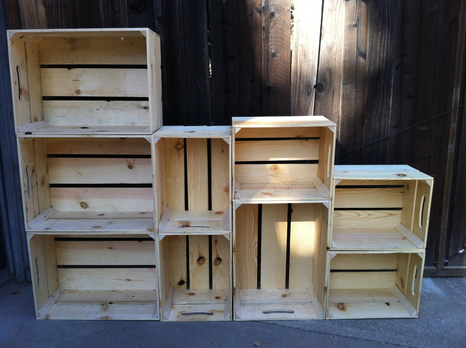 Alternating Size Extra Large Wooden Crate Bookshelf 43500 Via In Extra Large Bookcase (View 9 of 15)
