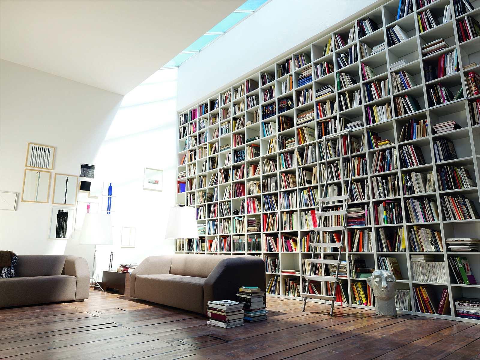 Amazing Bookshelf Design Futuristic Home Design Within Large Bookcase Plans (View 1 of 15)