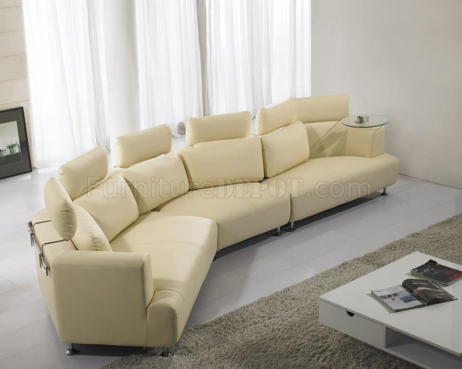 Amazing Cream Colored Leather Sofa With Details About Sectional Regarding Cream Sectional Leather Sofas (#1 of 15)