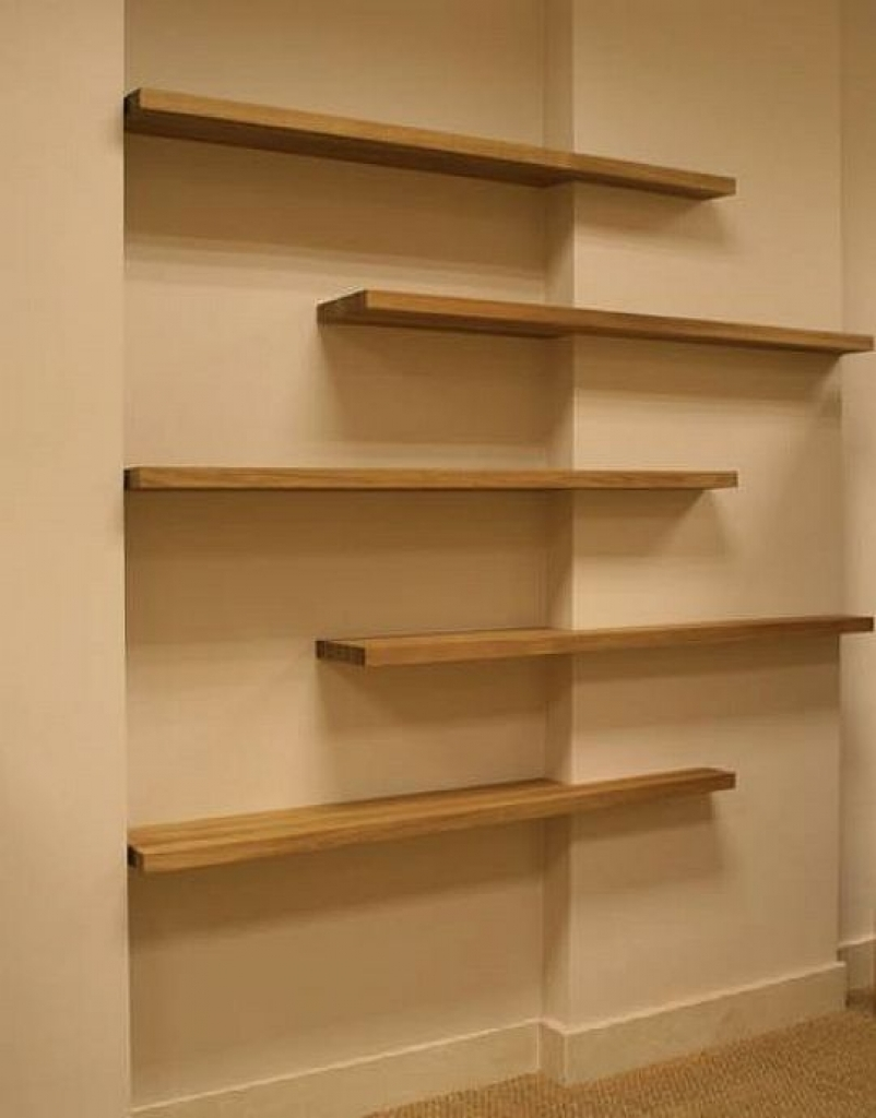 15 collection of oak wall shelves - Amazing shelves ...