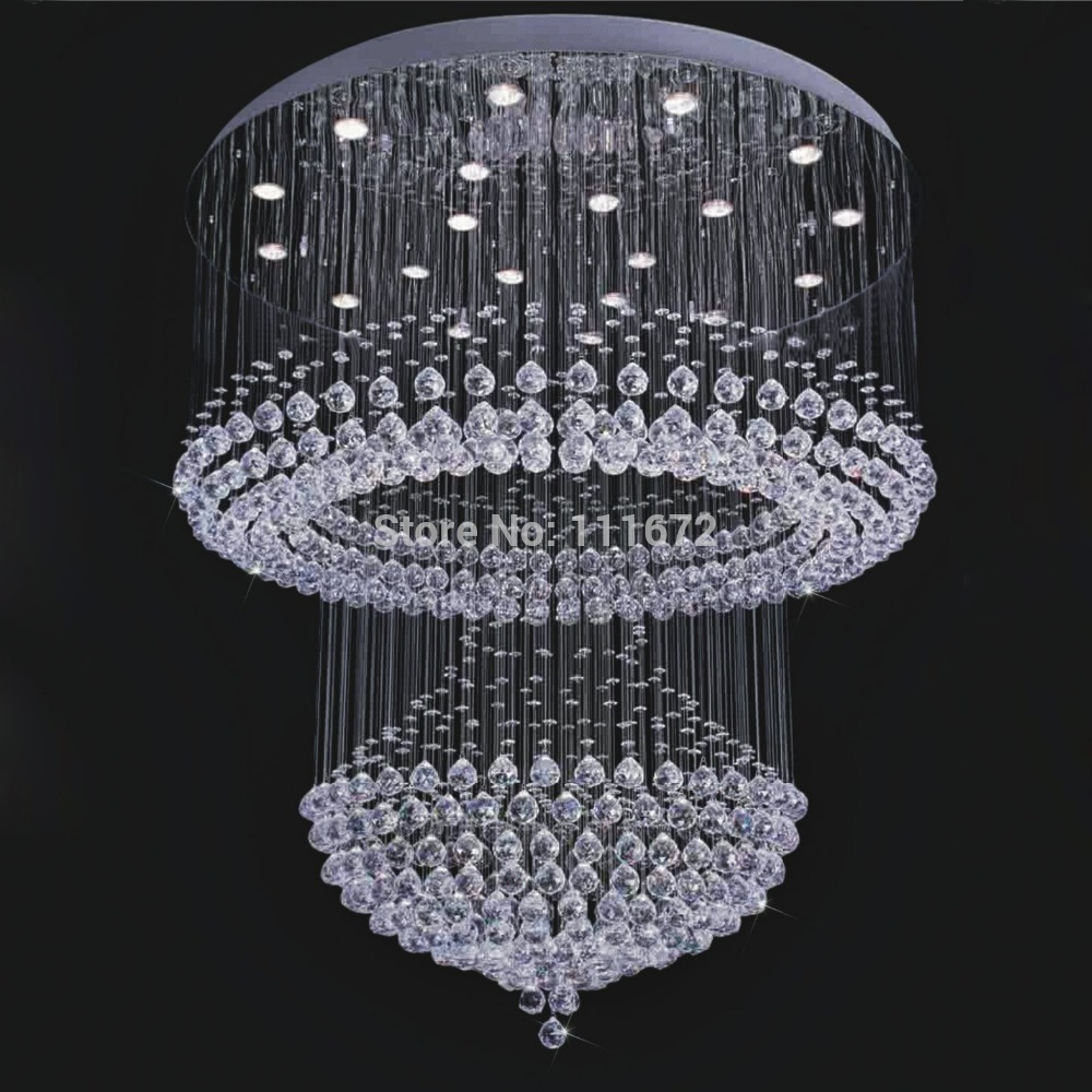 Amazing Of Contemporary Large Chandeliers Fabulous Crystal Throughout Large Contemporary Chandeliers (#2 of 12)