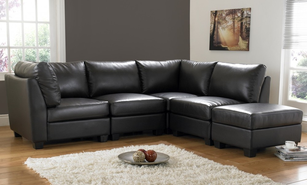 Amazing Of Leather Corner Sofa With Corner Sofas Furniture Regarding Large Black Leather Corner Sofas (#3 of 15)