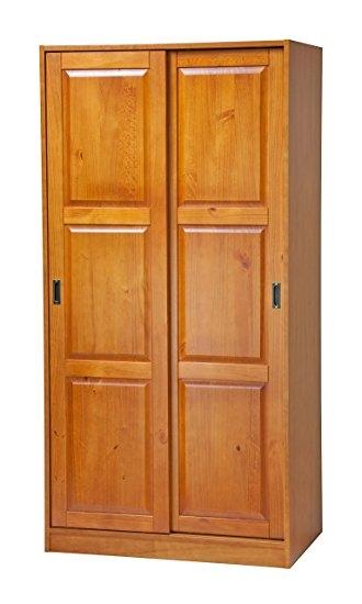 Amazon 100 Solid Wood 2 Sliding Door Wardrobearmoirecloset Within Sliding Door Wardrobes (View 1 of 15)