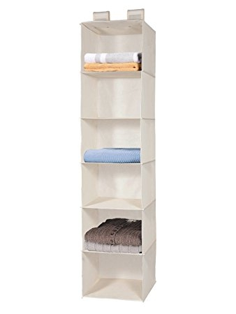 Amazon Closet Hanging Shelf Maidmax 6 Shelf Collapsible Pertaining To Hanging Wardrobe Shelves (View 2 of 15)