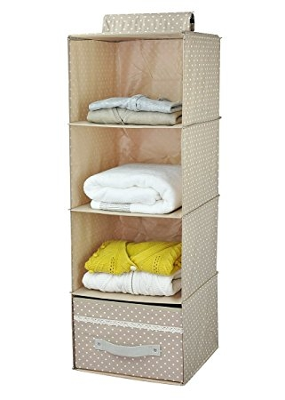 Amazon Collapsible Hanging Wardrobe Storage Shelves Shoe For Hanging Wardrobe Shelves (View 3 of 15)