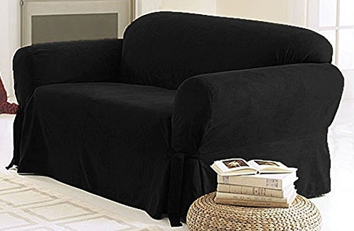 Amazon Green Living Group Chezmoi Collection Soft Micro Suede In Black Slipcovers For Sofas (#2 of 15)