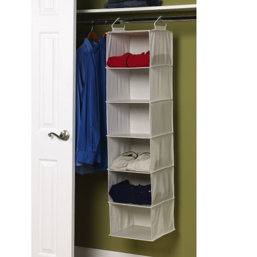 Amazon Household Essentials 6 Shelf Hanging Closet Organizer With Regard To Hanging Wardrobe Shelves (View 4 of 15)