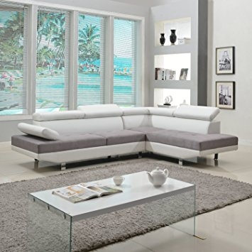 Amazon Modern Contemporary Designed Two Tone Microfiber And Intended For Two Tone Sofas (View 15 of 15)