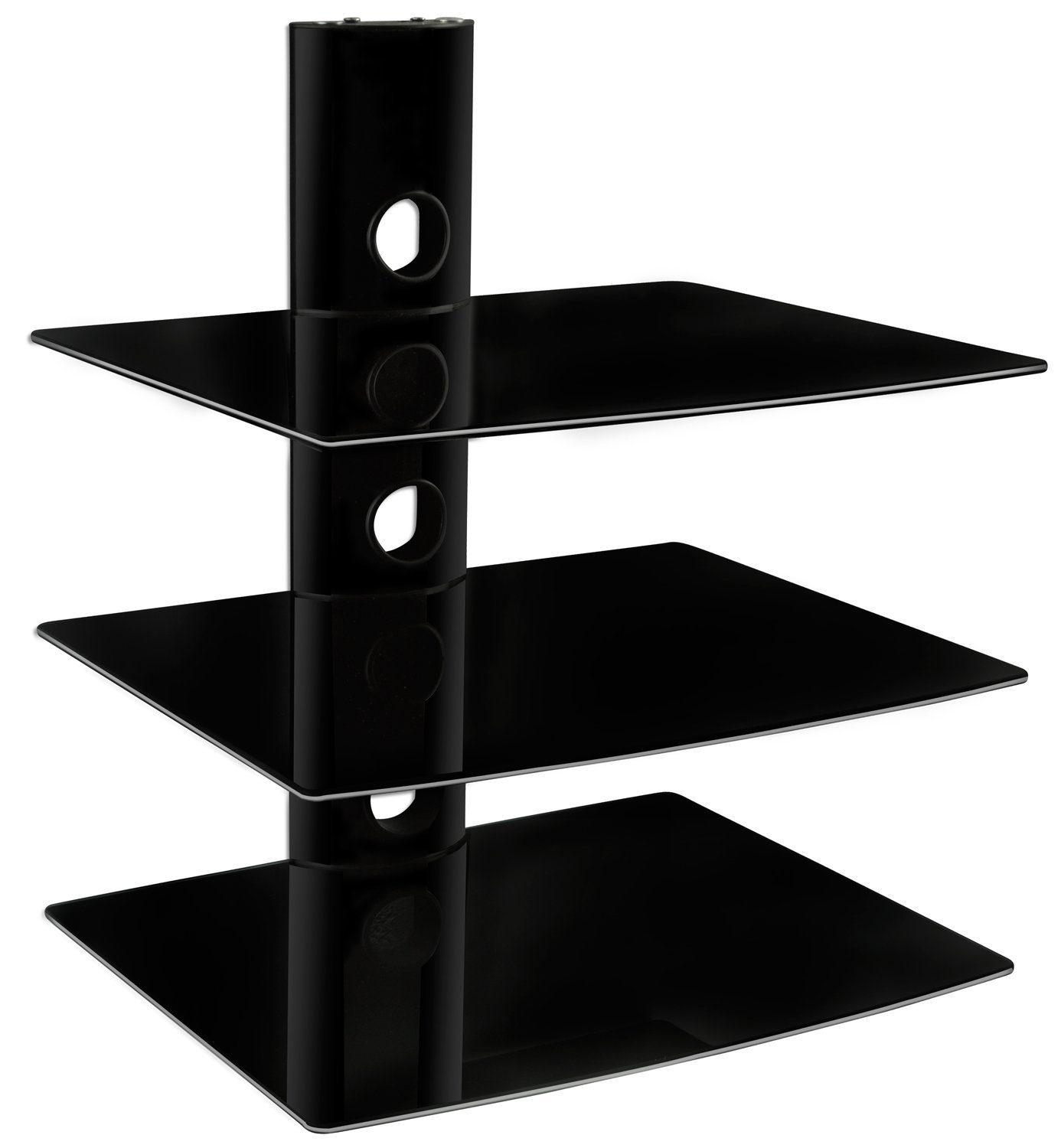 Amazon Mount It Mi 803 Floating Wall Mounted Shelf Bracket With Glass Floating Shelves For Dvd Player (#1 of 12)