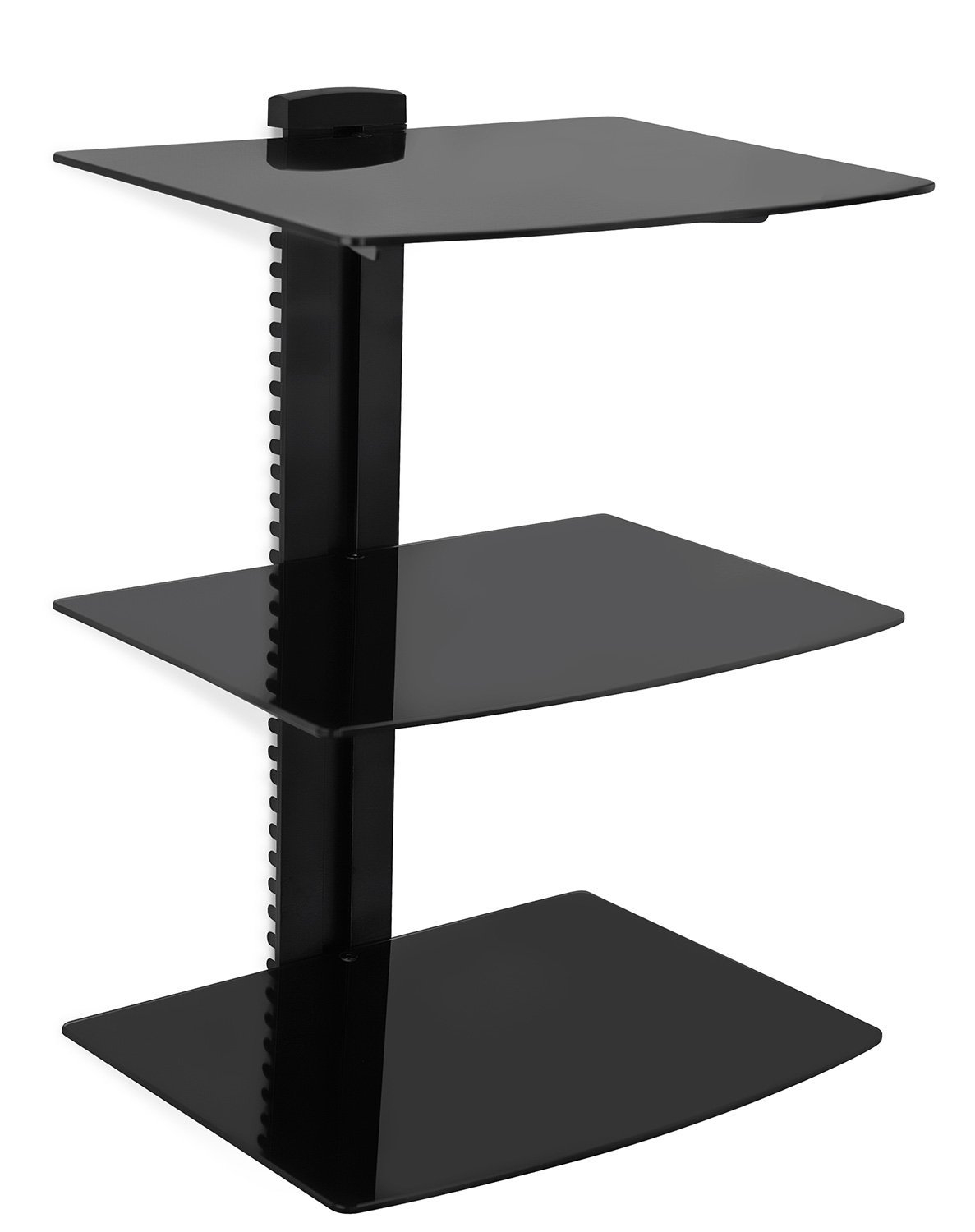 Amazon Mount It Wall Mounted Av Component Shelving System Pertaining To Wall Mounted Black Glass Shelves (#2 of 15)