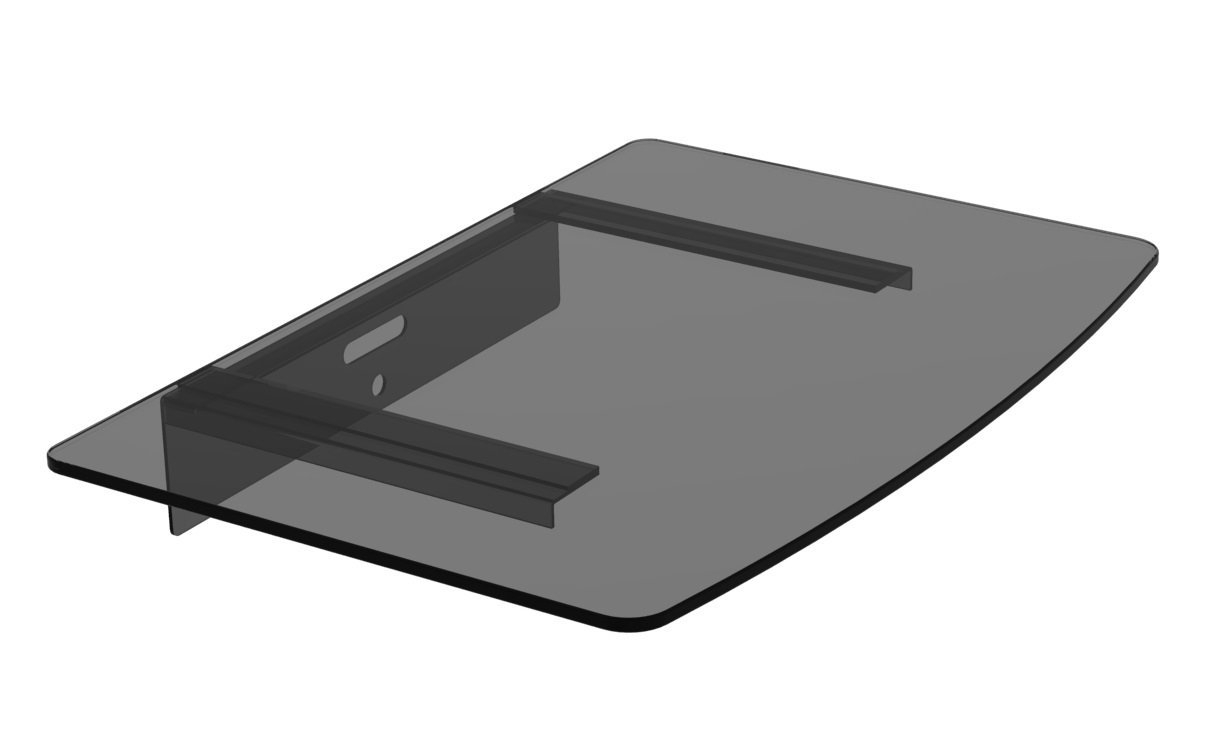Amazon Mount World 1443 Compact Glass Component Single Shelf For Glass Shelf For Dvd Player (#2 of 12)