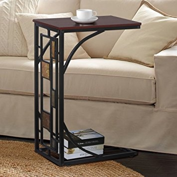 Amazon New Coffee Tray Side Sofa Table Couch Room Console Pertaining To Sofa Snack Tray Table (#5 of 15)