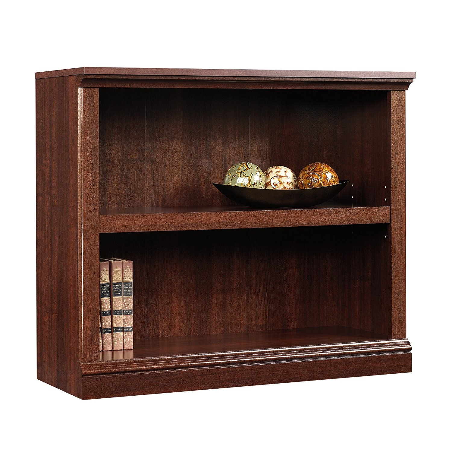 Amazon Sauder 2 Shelf Bookcase Select Cherry Finish Kitchen Intended For High Quality Bookcases (View 2 of 15)