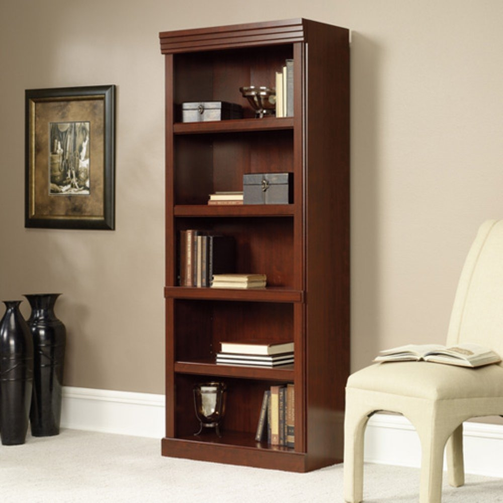 Amazon Sauder Heritage Hill Open Bookcase Classic Cherry Intended For Bookcases (#1 of 15)