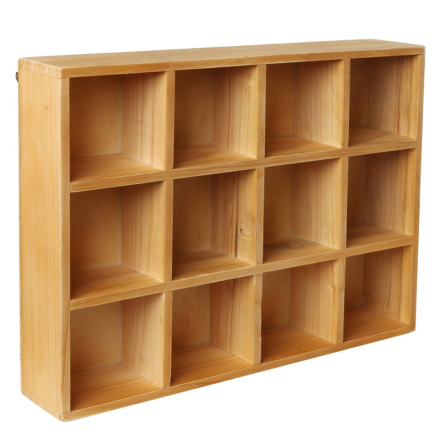 Amazon Wooden Freestanding Wall Mounted 12 Compartment With Free Standing Shelving Units Wood (View 15 of 15)