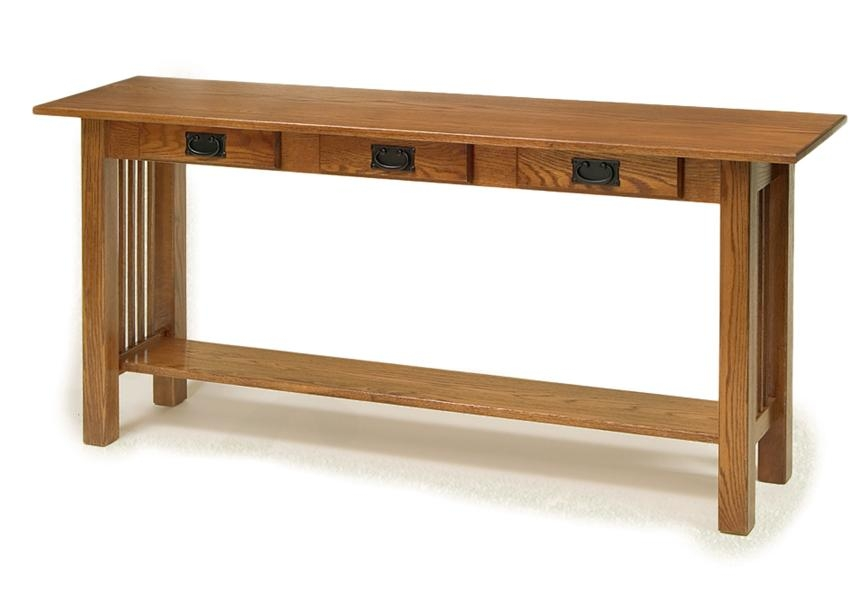 American Mission Sofa Table With Three Drawers From Dutchcrafters In Sofa Table Drawers (#3 of 15)