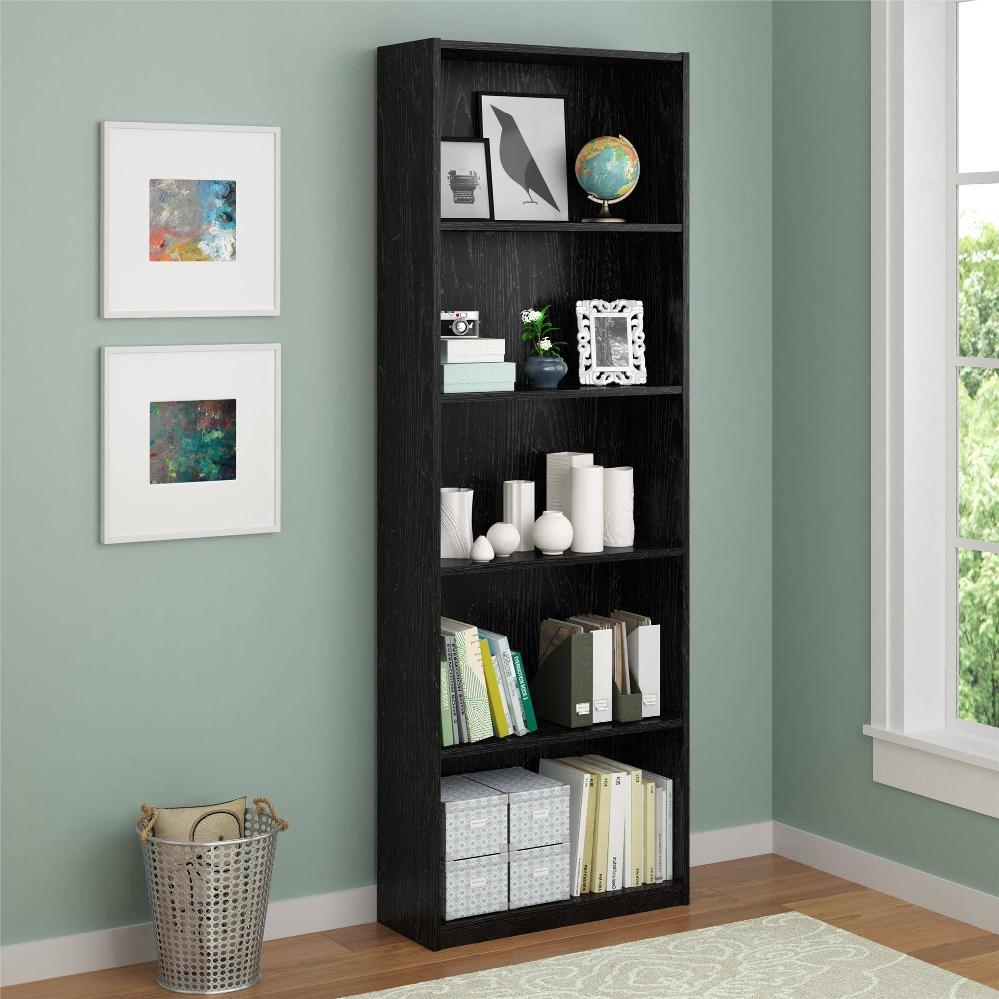 Ameriwood 5 Shelf Bookcase Multiple Colors Walmart Throughout Very Tall Bookcase (#1 of 15)