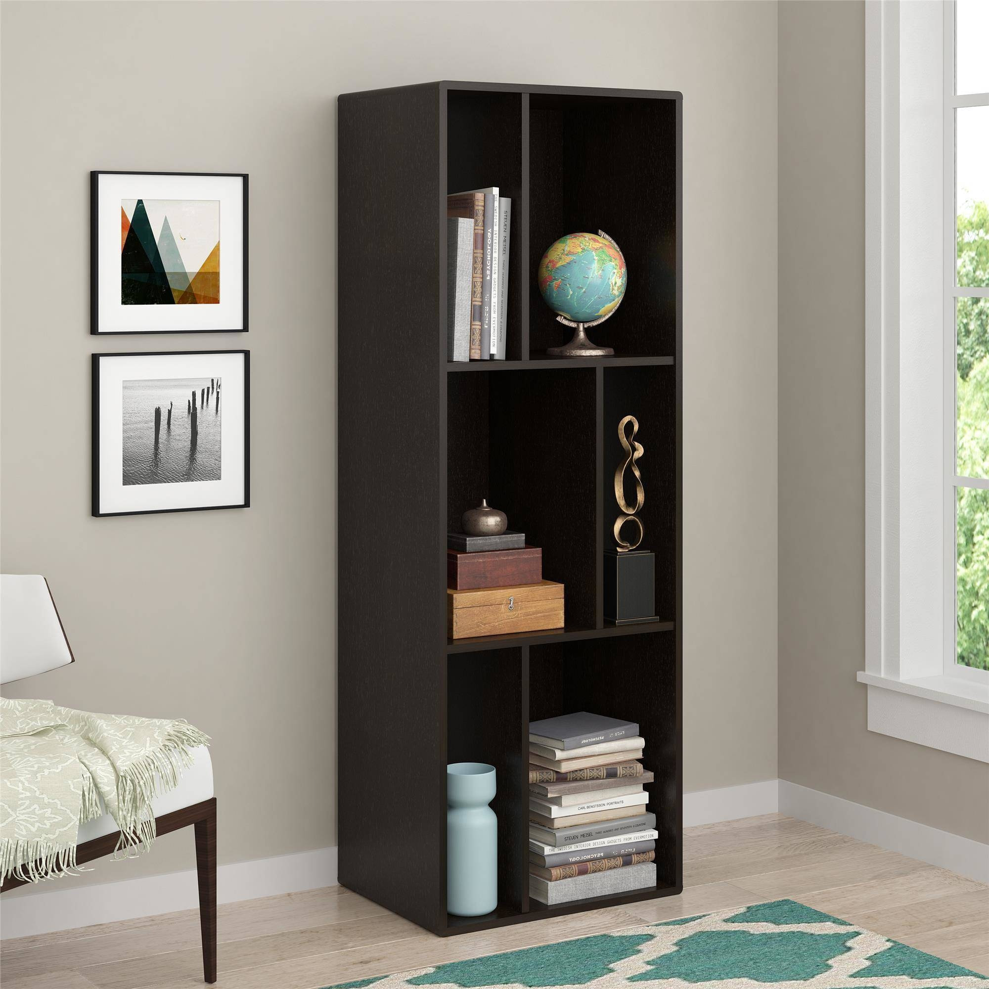Ameriwood Home Nash Bookcasetv Stand For Tvs Up To 60 Espresso Inside Bookcase Tv Stand (#1 of 15)